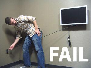 Tv fail