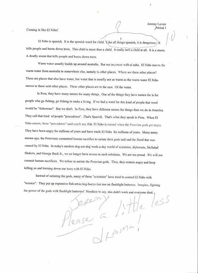 Panic essay