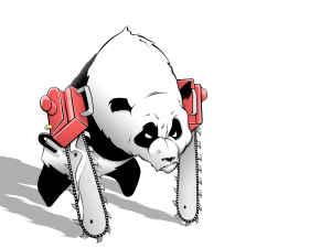 Chainsaw panda