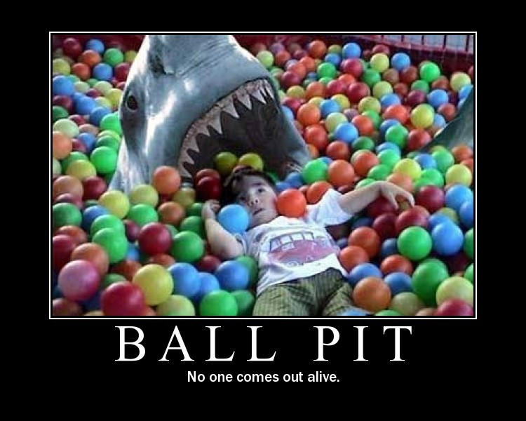 User Intemet Internet ball pit and sharks