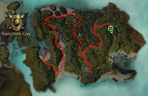 Sanctum Cay map