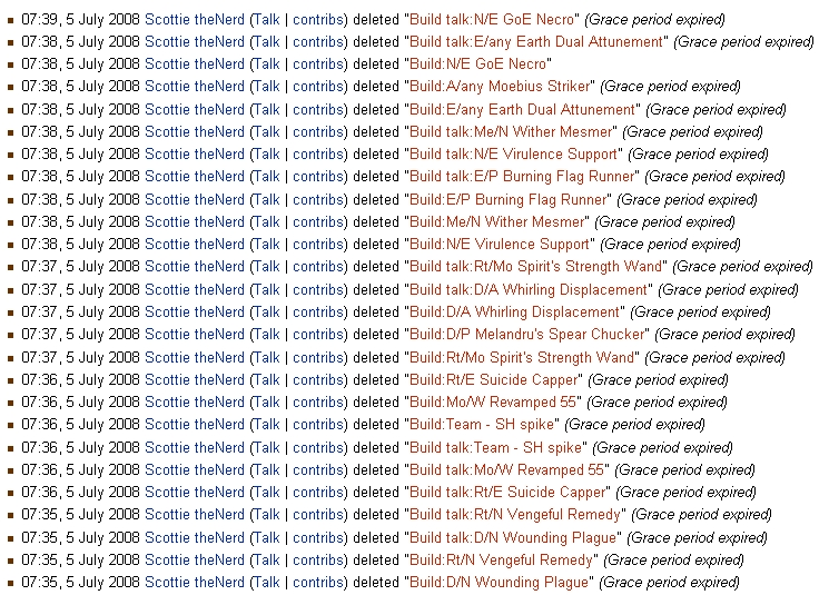 Scotty deletion log