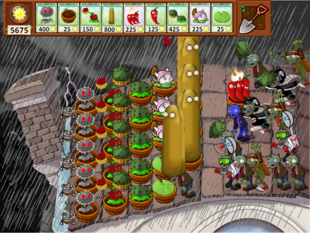 PVZCC Stormy Roof Custom Battle (2)