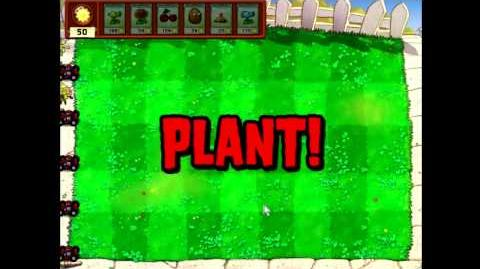 Plants vs Zombies Day (levels 1-1 till 1-10) No Sunflower Challenge