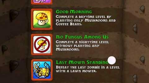 All achievements in Plants vs Zombies