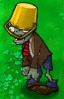 Golden-Buckethead Zombie