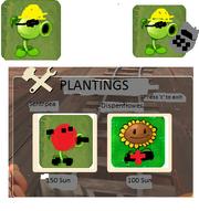 Engineer Pea plantings screen, and engineer pea constructing