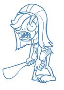 Unknown Prehistoric Female Zombie