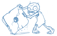 Unknown Prehistoric Zombie with a Stone Square Wheel