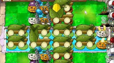 Plants vs Zombies - basic 12 cob formation for survival endless