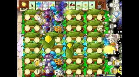 Plants vs Zombies - basic 20 cob cannon formation and strategy