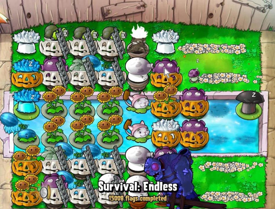 Survival: Endless - No Repair Cobless Strategy | Plants vs