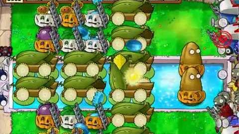 Plants vs Zombies 10 Cob Cannon setup (with ladders)