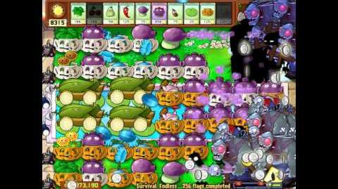 Plants vs Zombies Survival Endless 250 Flags