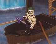 Maritrocious in boat