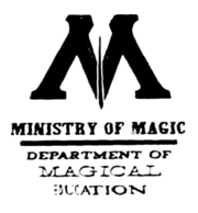 Department of Magical Education logo