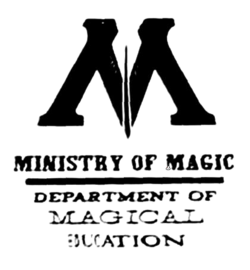 Department of Magical Education logo