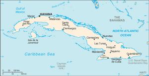 Cuba-CIA WFB Map