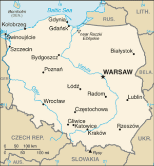 Poland-CIA WFB Map