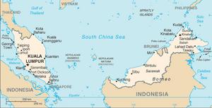Malaysia-CIA WFB Map