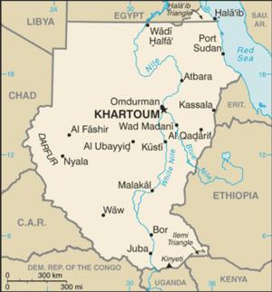 Sudan-CIA WFB Map