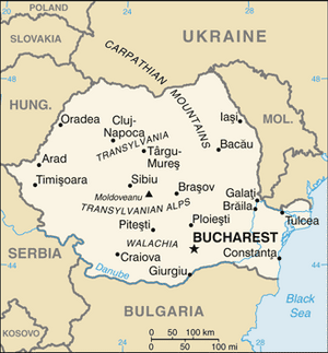 Romania-CIA WFB Map