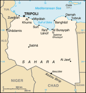 Libya-CIA WFB Map