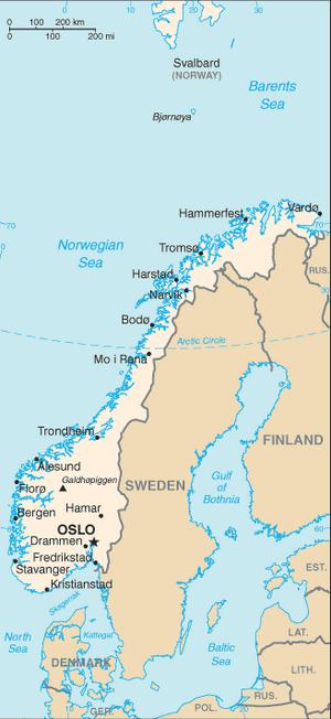 Norway-CIA WFB Map