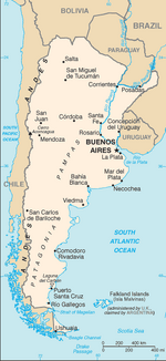 Argentina-CIA WFB Map