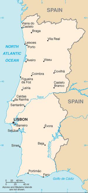 Portugal-CIA WFB Map