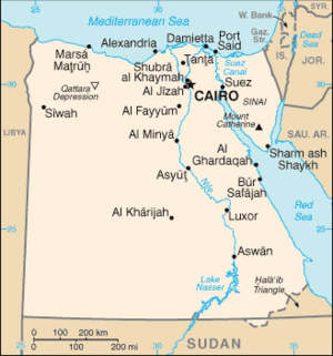 Egypt-CIA WFB Map