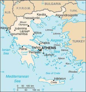 Greece-CIA WFB Map