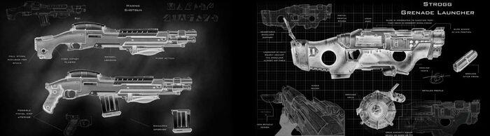 Quake 4 Weapons Negative