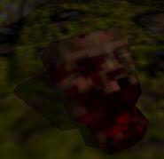 Zombie gibbed head