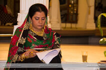 Alka reading her script