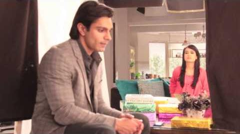 Qubool Hai - Clandestine talk with Karan Singh Grover while shooting a scene