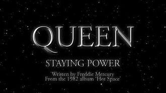 Queen - Staying Power (Official Lyric Video)