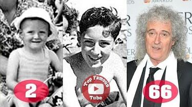 Brian May - Transformation From 2 To 71 Years Old