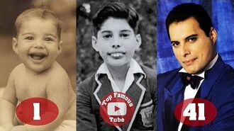 Freddie Mercury - Transformation From 1 To 45 Years Old