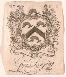 513px-Bookplate of Epes Sargent by Paul Revere