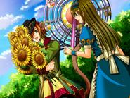 Pierce with sunflowers