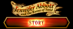 Jennifer Abbott and the Ruins of Sand Story Banner & Button