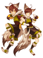 Iri and Jin (Twin Wizards) transparent