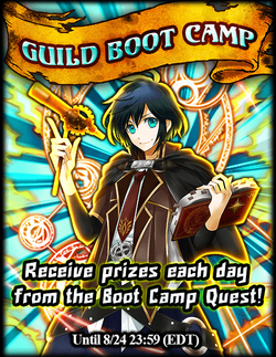 Guild Bootcamp! August 2015 Announcement