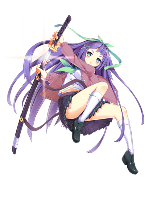 image shino cursed sword girl transparent png quiz rpg the