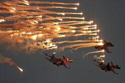 Russian Knights Tkachenko tribute flight Mishin