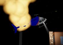 Crashing heli