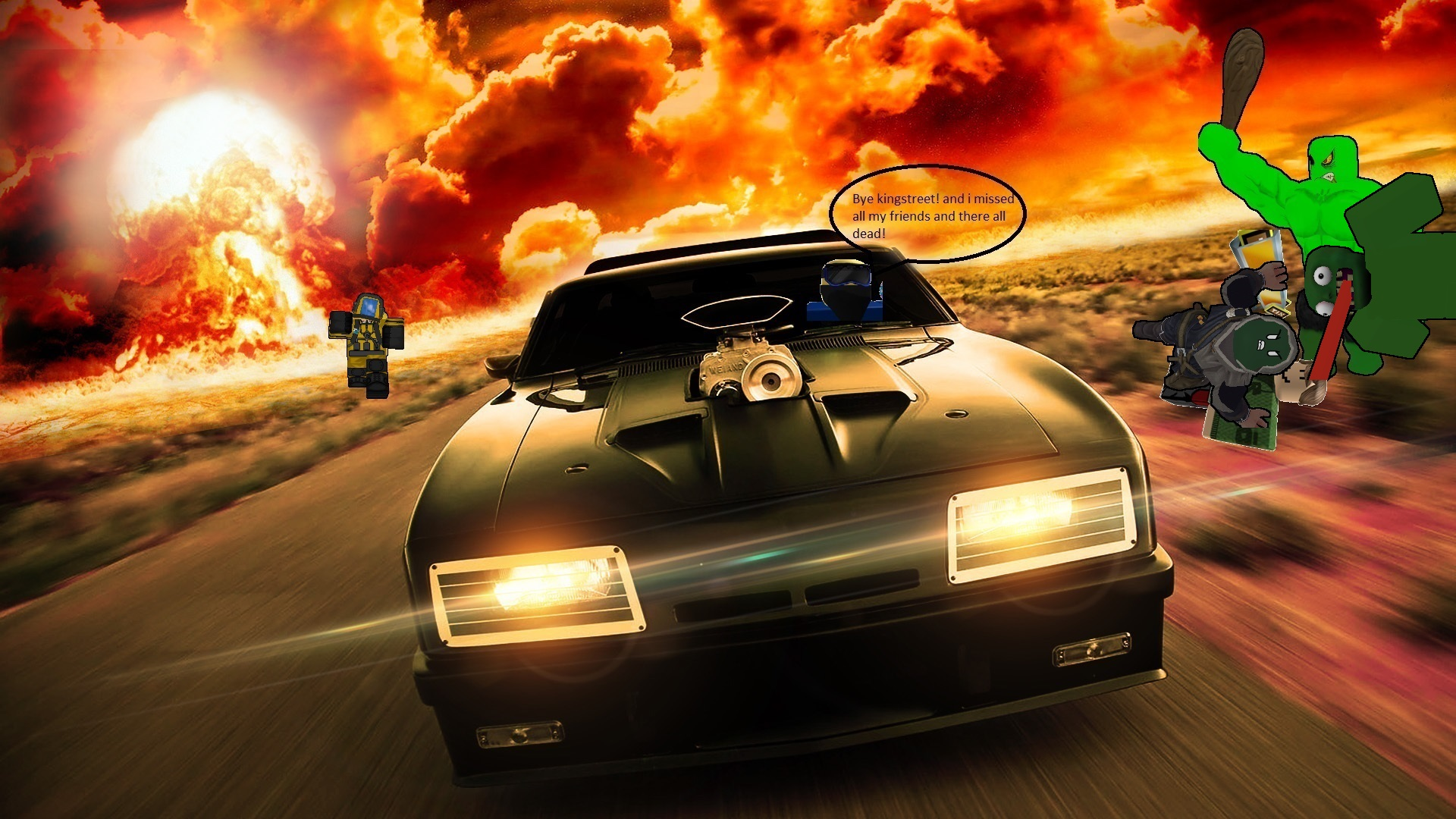 image - auto high-speed car on a background of fire 089363