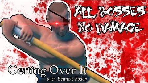 Getting Over It - All bosses 【No damage, Hammer only 】