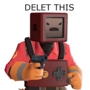 Beep Man Does a Delet This